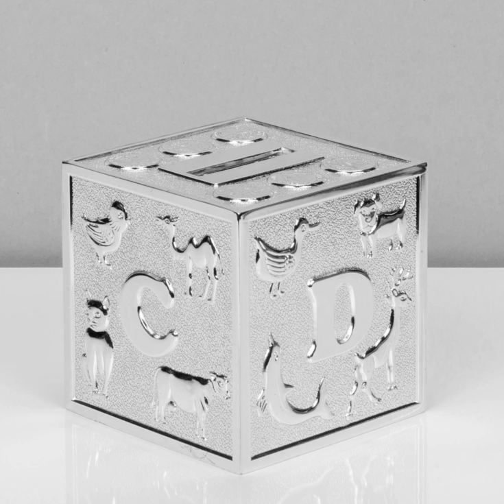 Bambino Silver Plated Alphabet Money Box product image