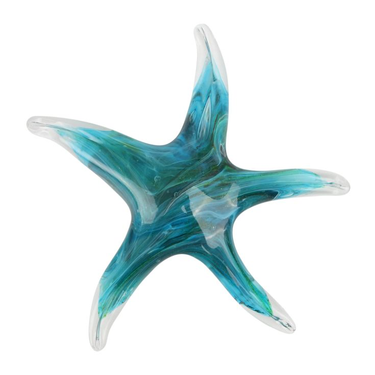 Objets d'Art Glass Figurine - Green Starfish product image