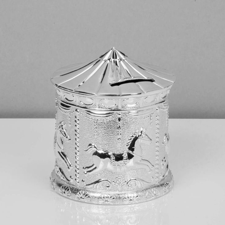 Bambino Silver Plated Carousel Money Box product image