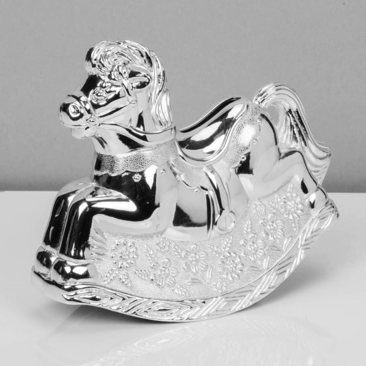 Bambino Silver Plated Rocking Horse Money Box product image