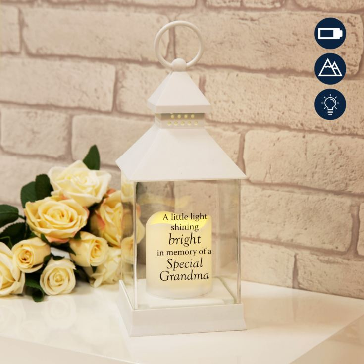 Thoughts of You Graveside Memorial Lantern - Grandma product image