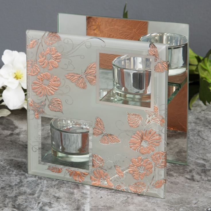 Sophia Rose Gold Collection Double Tealight Holder product image