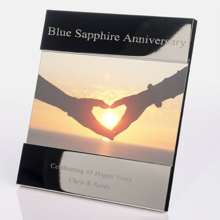 Engraved 65th (Blue Sapphire) Anniversary Photo Frame product image