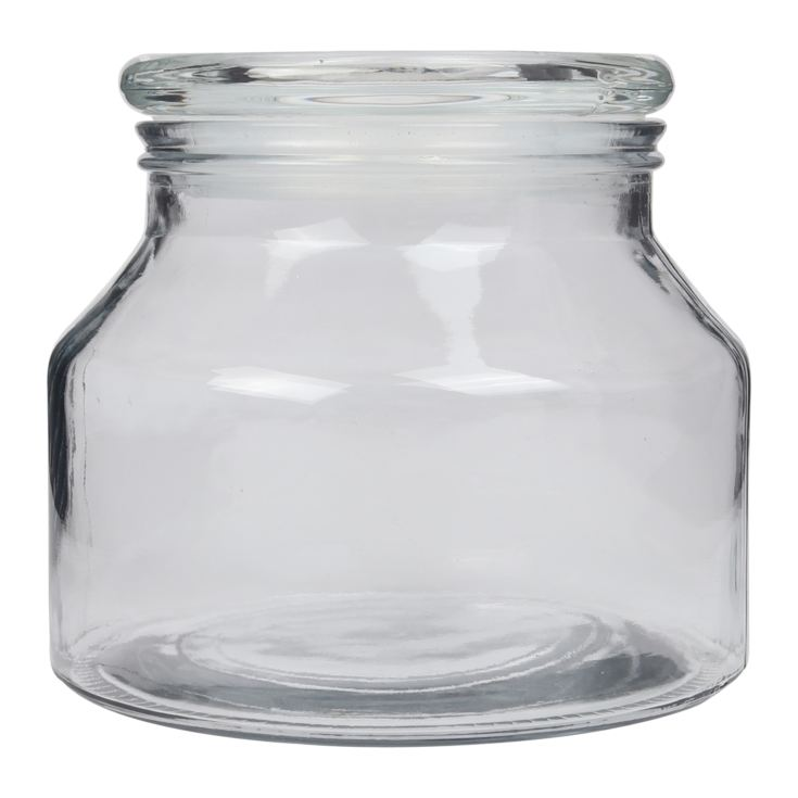 Clear Glass Vintage Jar 14cm product image