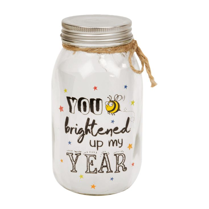 You Brighten Up My Year Light Up Jar product image
