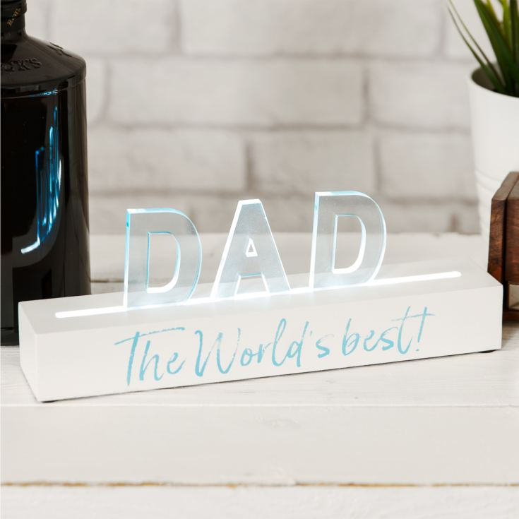 Say It In Lights White LED Light Up Plaque 25cm - Dad product image