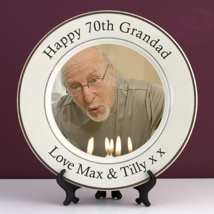 Personalised 70th Birthday Photo Plate product image
