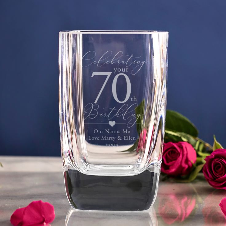 Personalised 70th Birthday Vase product image