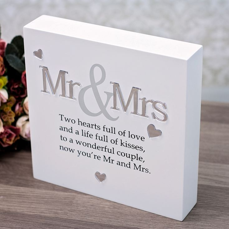 Mr & Mrs Sentiment Block-Art product image