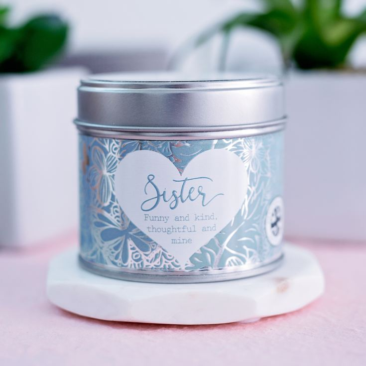 Said With Sentiment Sister Candle In A Tin product image