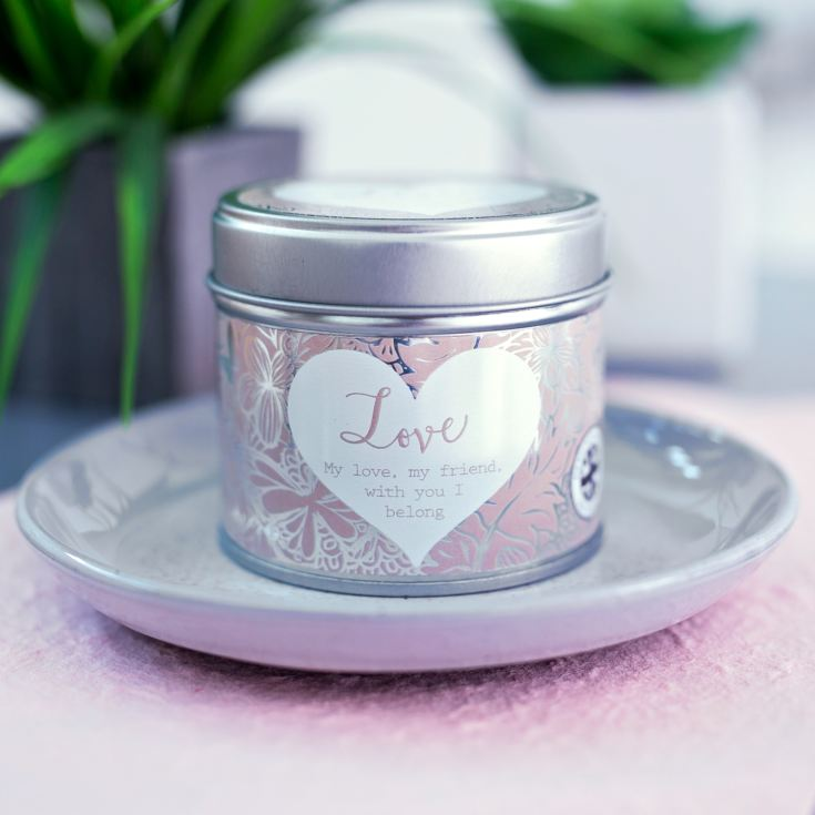 Said With Sentiment Love Candle In A Tin product image
