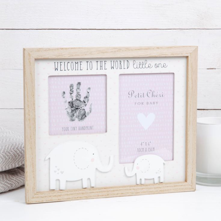 "4"" x 6"" - Petit Cheri Hand Print & Photo Frame - Pink product image"