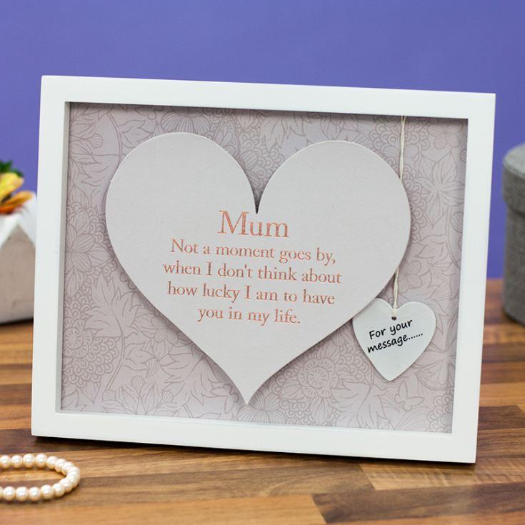 Mum Sentiment Heart Art Frame   The Gift Experience