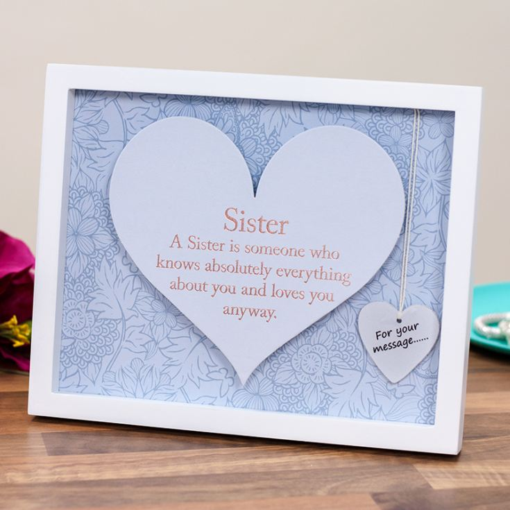 Sister Sentiment Heart Art Frame product image