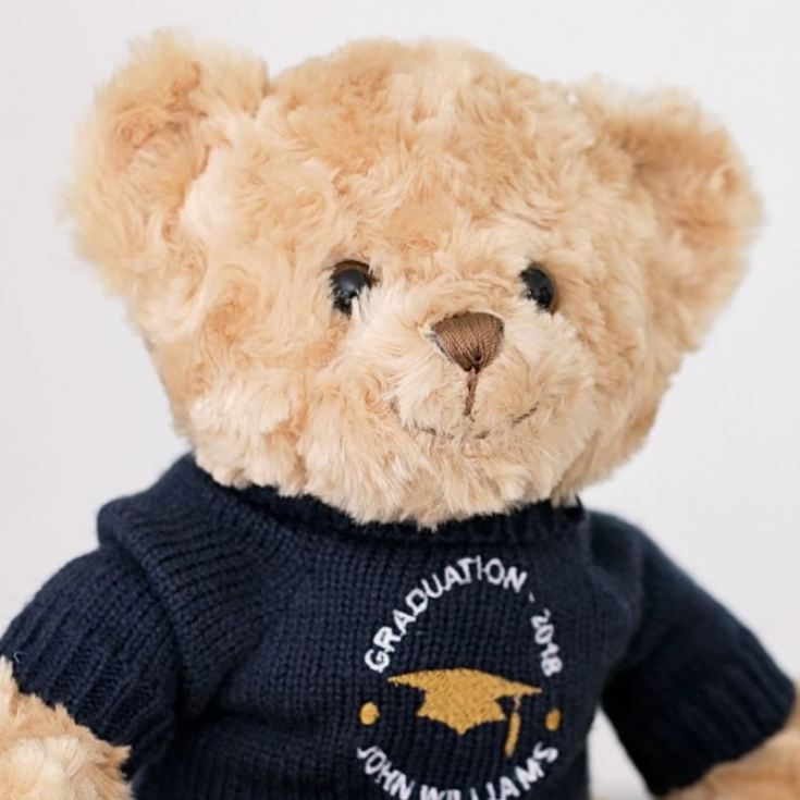 Embroidered Personalised Graduation Teddy Bear product image
