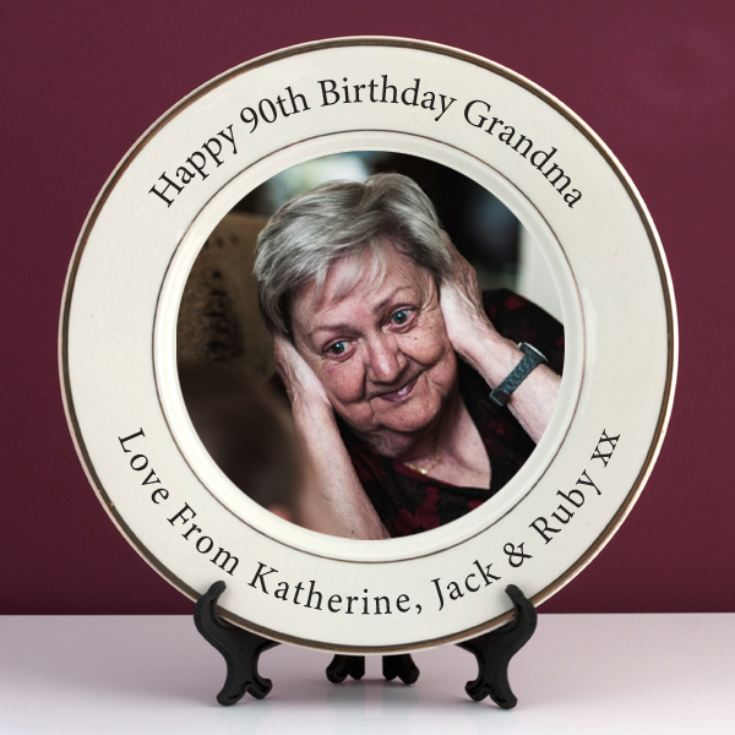 Personalised 90th Birthday Photo Plate product image