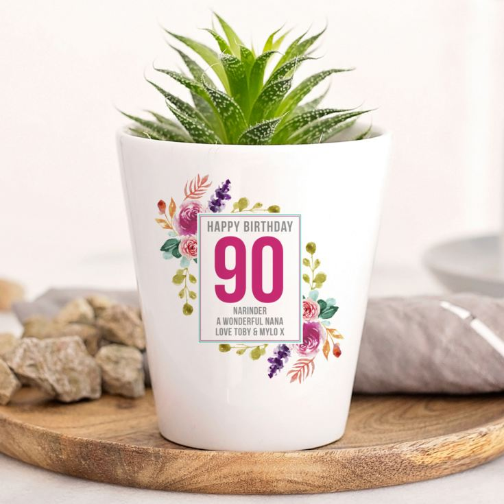 Personalised 90th Birthday Plant Pot product image