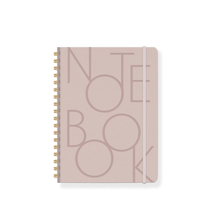 BOLD TYPE BLUSH FAUX LEATHER SPIRAL NOTEBOOK product image