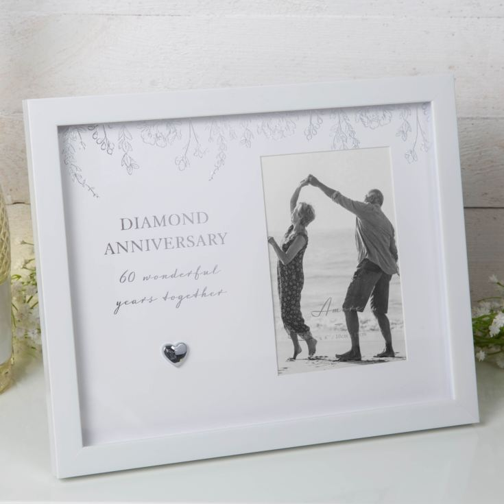 "4"" x 6"" - AMORE BY JULIANA® Anniversary Photo Frame - 60 product image"
