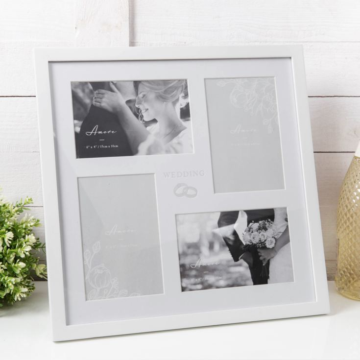 AMORE BY JULIANA® Multi Aperture Photo Frame - Wedding product image