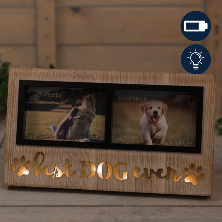 "6"" x 4"" - Best of Breed Double Photo Frame - Dog product image"