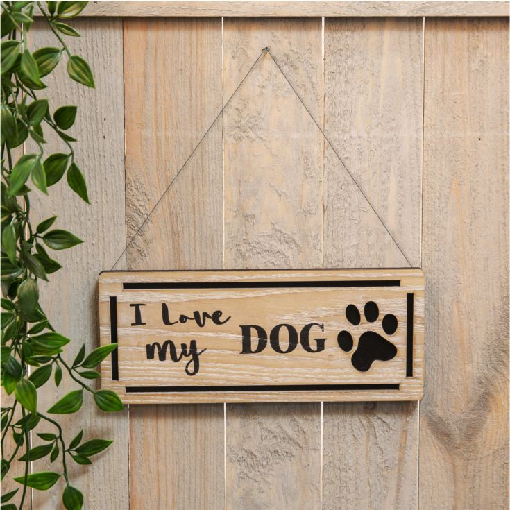 Best of Breed Natural Wood Plaque - I Love My Dog product image