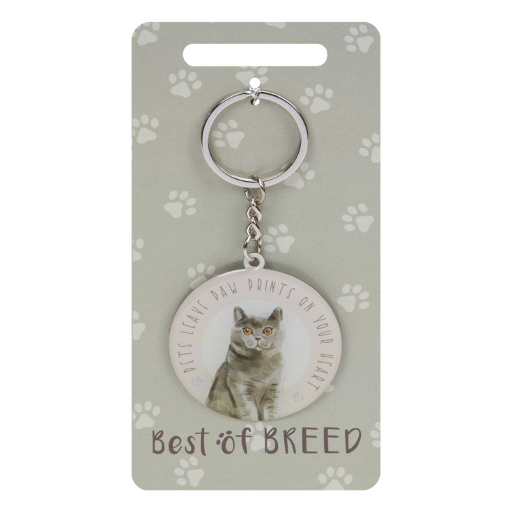 Best Of Breed Keyring - British Blue Cat product image
