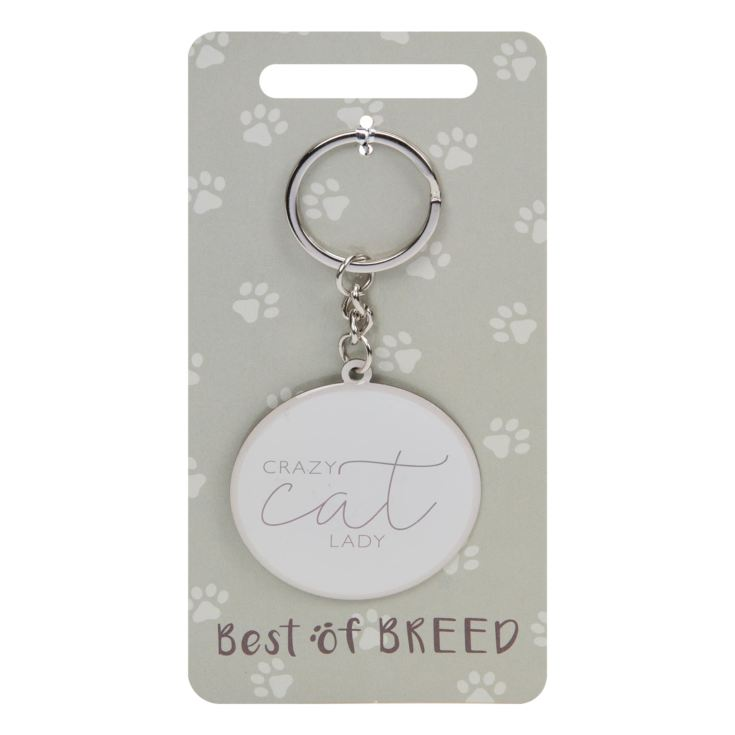 Best Of Breed Keyring - Crazy Cat Lady product image