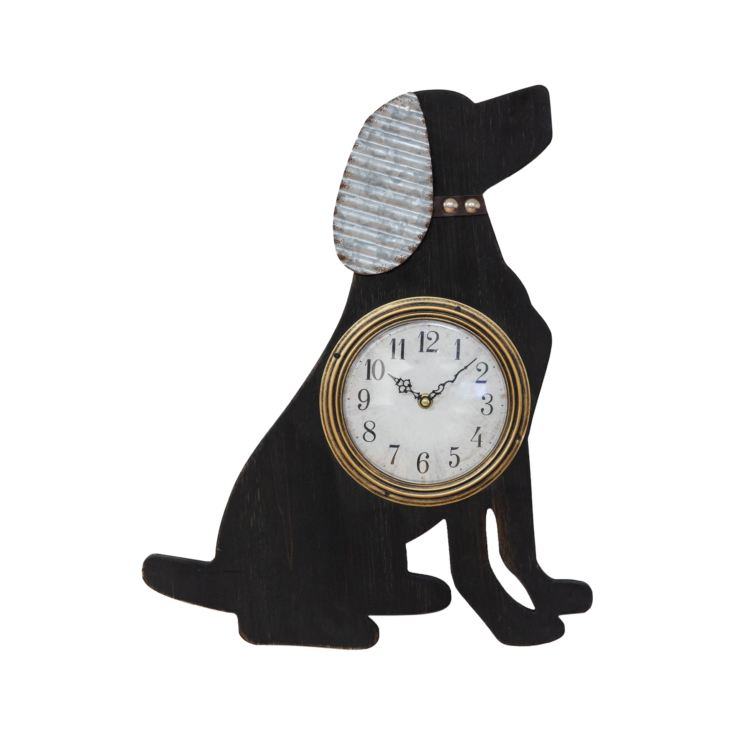 Wooden Dog Shaped Wall Clock - 50cm product image