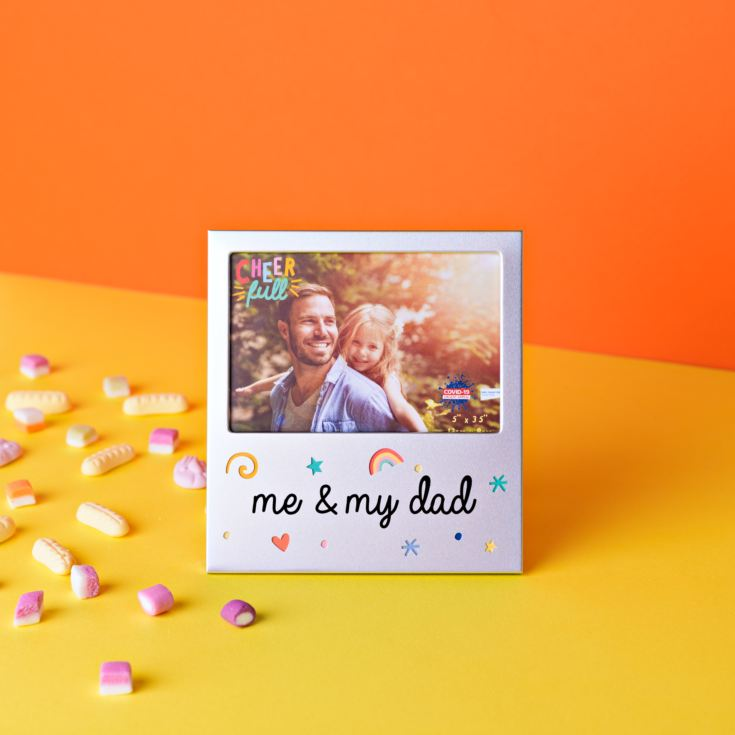 "5"" x 3.5"" Cheerful Aluminium Photo Frame - Me & My Dad product image"