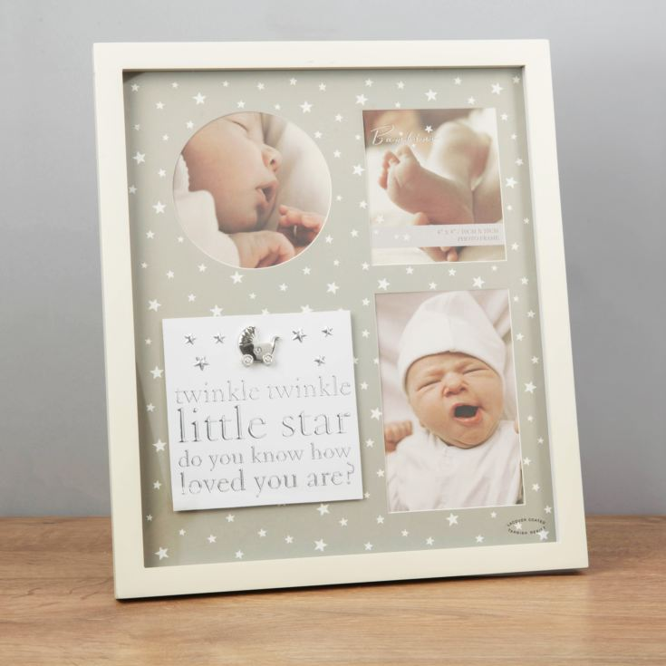 Bambino Triple Aperture Twinkle Little Star Photo Frame product image