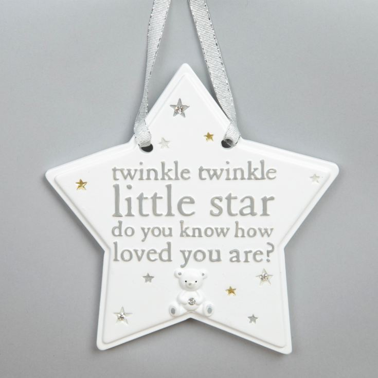 Bambino White Little Star Hanging Plaque - Twinkle Twinkle product image