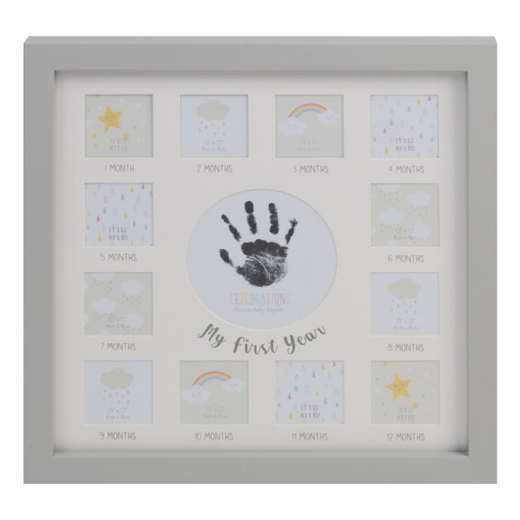 Celebrations Multi Aperture Frame Grey with Ink Pad product image