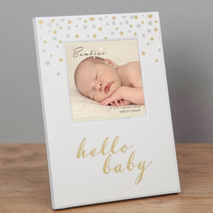 "4"" x 4"" - Bambino Paperwrap Photo Frame - Hello Baby product image"