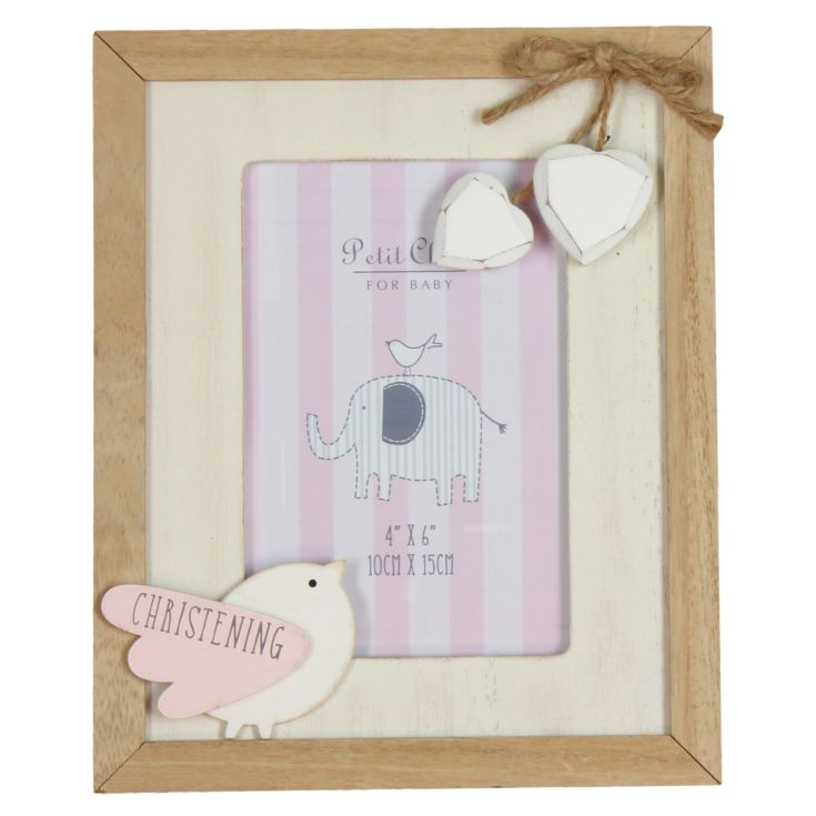 "4"" x 6"" - Petit Cheri Pink Christening Photo Frame product image"