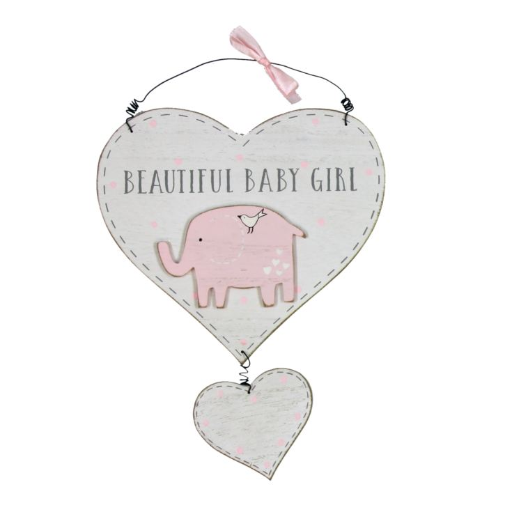 Petit Cheri Gorgeous Baby Girl Heart Plaque product image