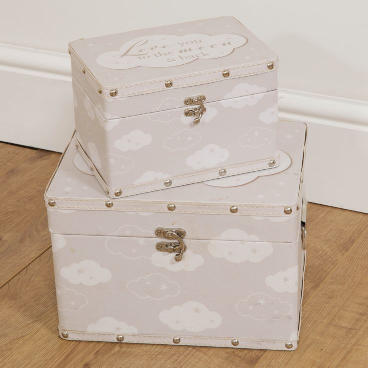 Bambino Set of 2 Luggage Boxes - Love You To The Moon & Back product image
