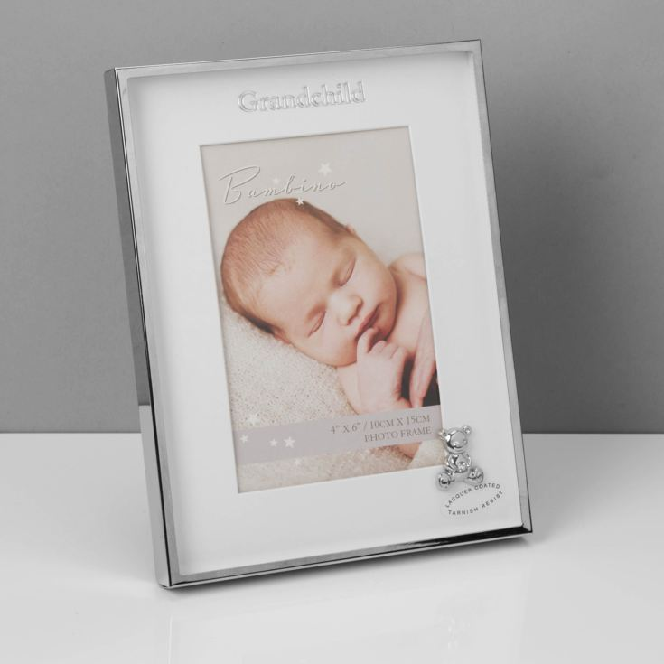 "4"" x 6"" - Bambino Silver Plated Frame Teddy - Grandchild product image"