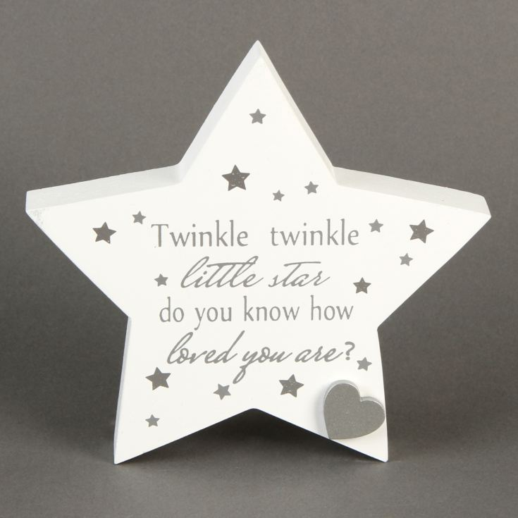 Twinkle Twinkle Little Star Baby Mantel Plaque product image