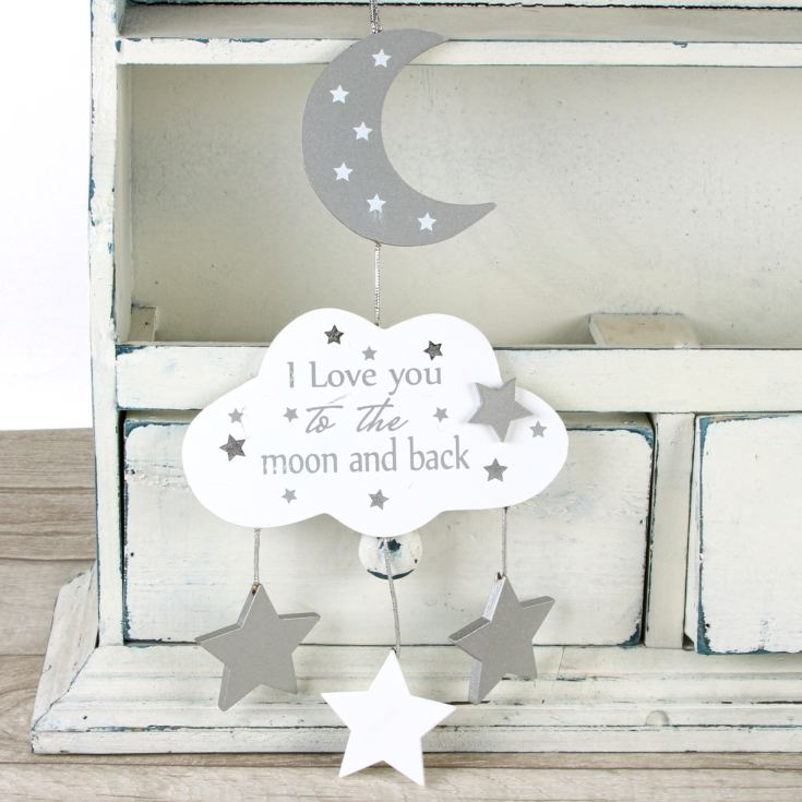 Twinkle Twinkle Cloud Moon & Stars Hanging Plaque product image