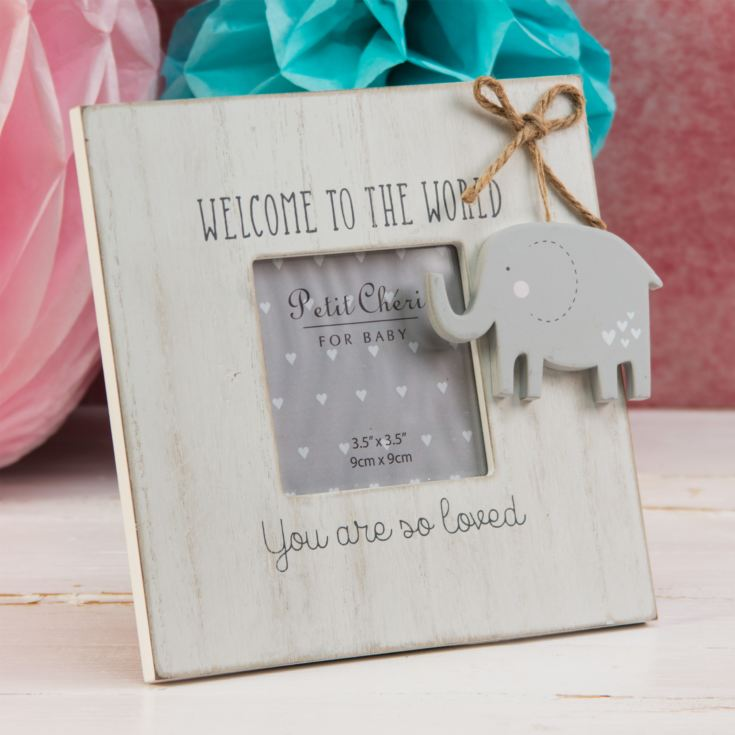 "3.5"" x 3.5"" - Petit Cheri Welcome To The World Frame product image"