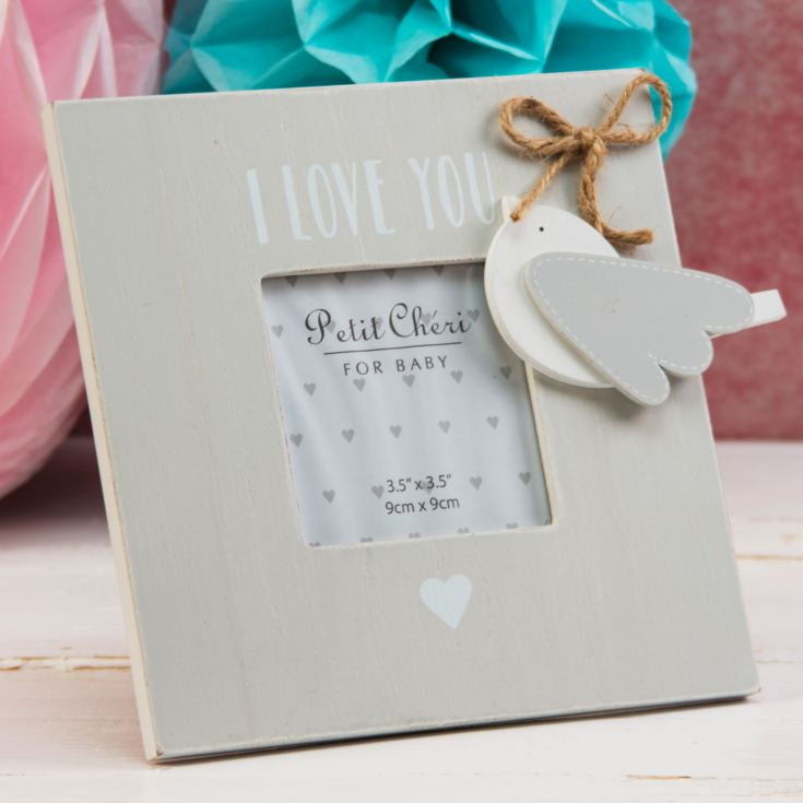 "3.5"" x 3.5"" - Petit Cheri Bird - I Love You Frame product image"