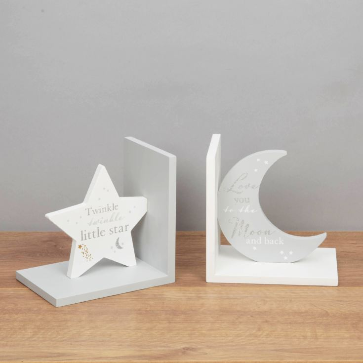 Bambino Bookends - Love You to the Moon...Twinkle Twinkle... product image