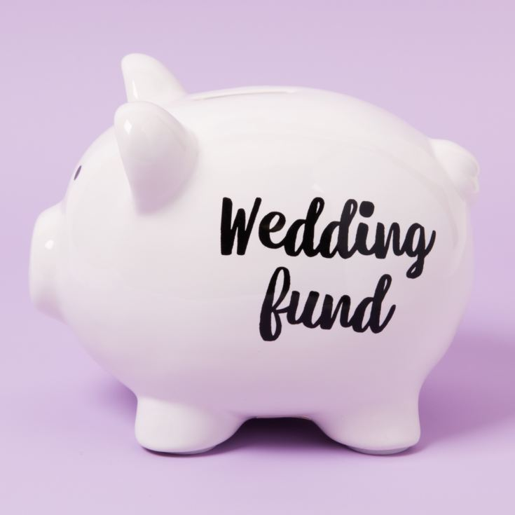 'Pennies & Dreams' Ceramic Pig Money Bank - Wedding Fund product image