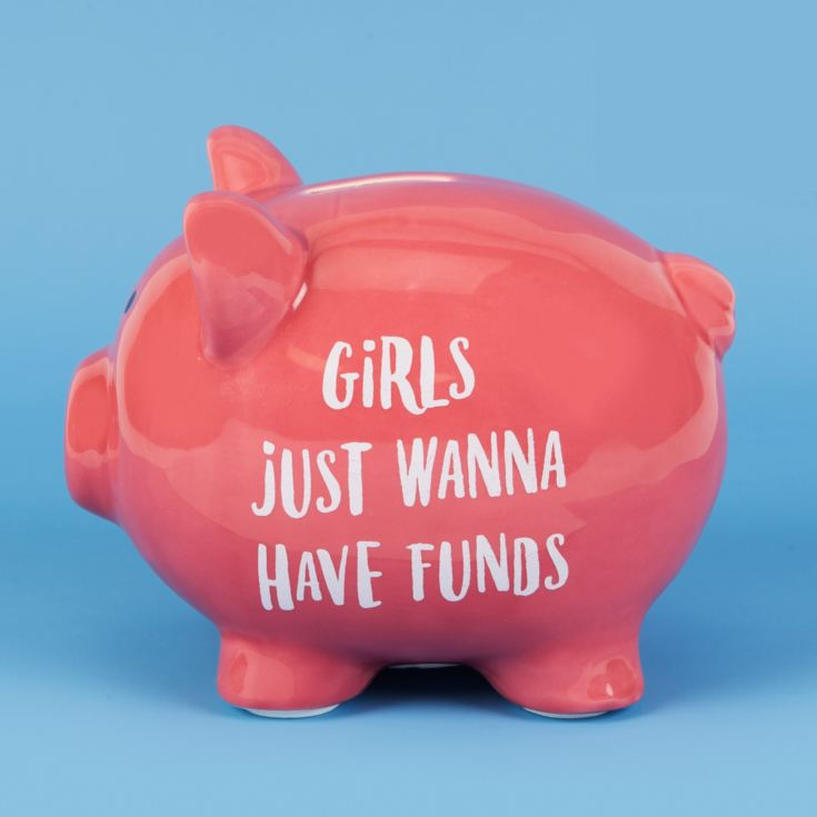 'Pennies & Dreams' Ceramic Piggy Bank - Girls Wanna Have Fun product image