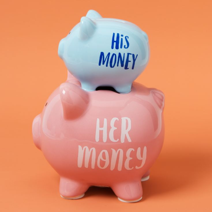 'Pennies & Dreams' Double Piggy Bank - His & Her product image