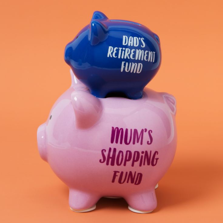'Pennies & Dreams' Double Piggy Bank - Mum & Dad's product image