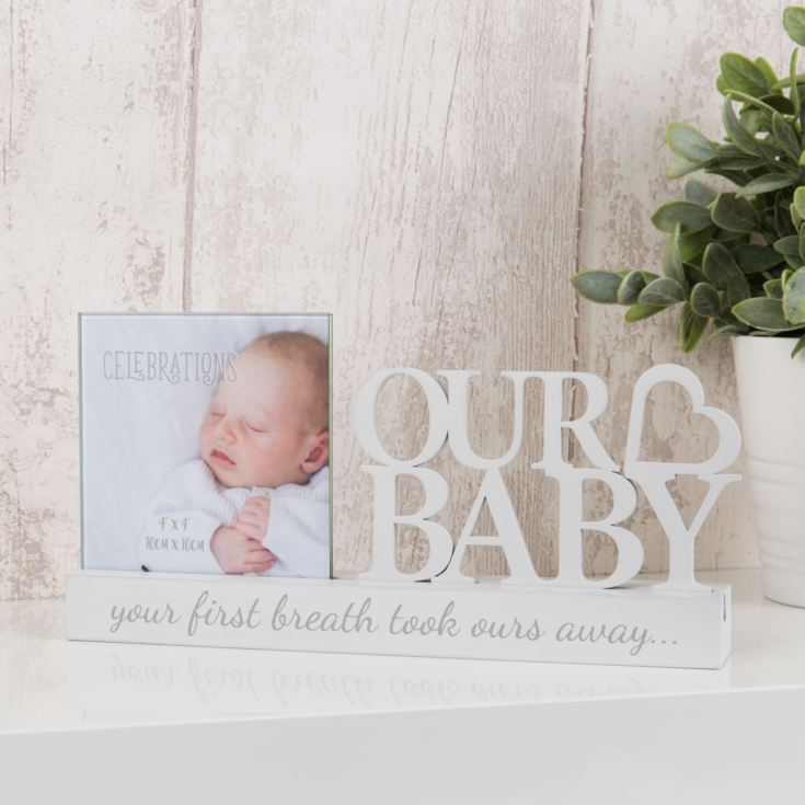 "4"" x 4"" - Celebrations Cut Out Photo Frame - Our Baby product image"