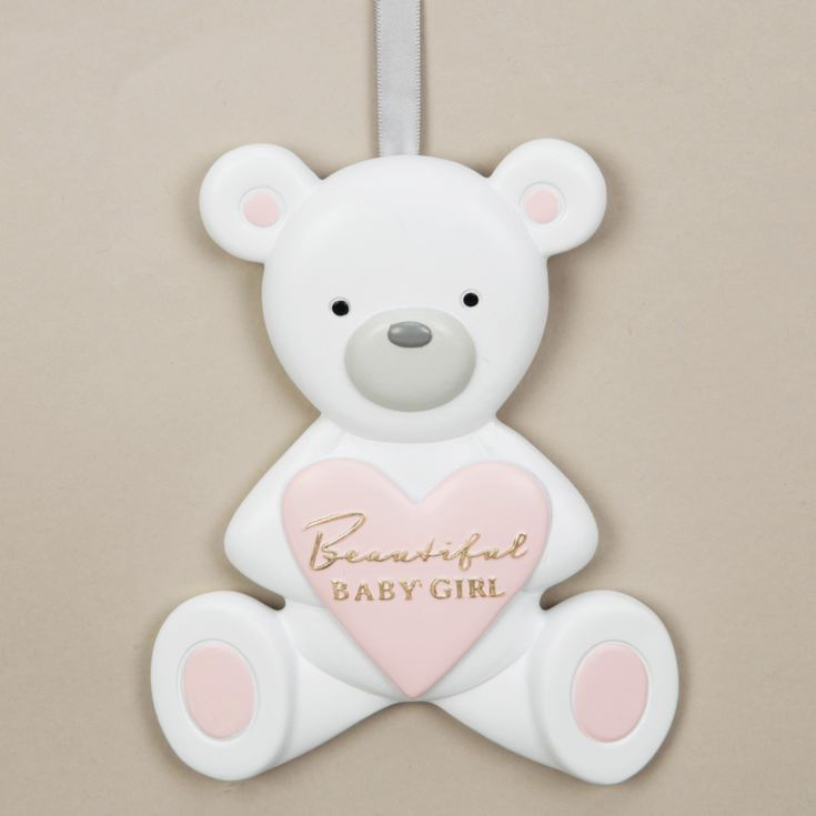 Bambino Resin Relief Teddy Bear Plaque - Beautiful Girl product image