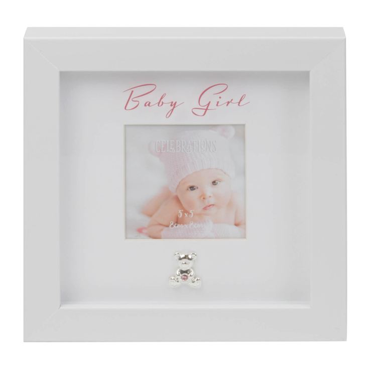 "3"" x 3"" - Baby Girl Box Frame with Engraving Plate product image"